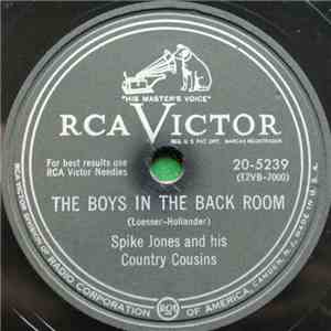 Spike Jones And His Country Cousins / Spike Jones And The City Slickers - The Boys In The Back Room / Lulu Had A Baby album FLAC